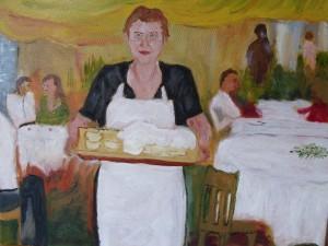 Waitress at the Wedding